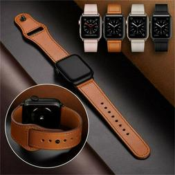 40/44mm Genuine Leather iWatch Strap for Apple Watch Band Se
