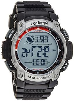 Armitron Men's 40/8252BLK Black Digital Chronograph Sport Wa