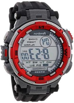 Armitron Sport Men's 40/8301RED Red and Silver-Tone Accented