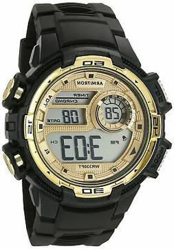 Armitron Sport Men's 40/8347BKGD Gold-Tone Accented Digital