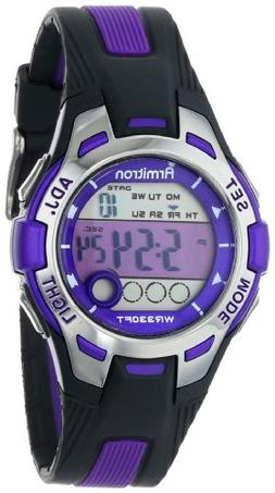 Armitron Sport Women's 45/7030PUR Purple Accented Black Resi