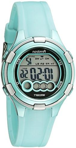 Armitron Sport Women's 45/7053LTG Digital Light Green Resin