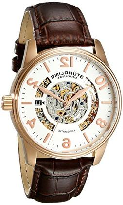 Stuhrling Original Men's 649.02 Legacy Automatic 16k Rose Go