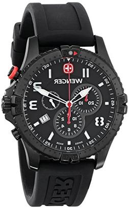 Wenger Men's 77053 Squadron Black Ion-Plated Stainless Steel