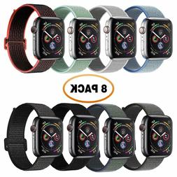 8 pack for Apple Watch Band 44mm, Soft Compatible for iWatch