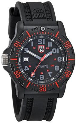 Luminox Men's 8815 Black Resin Watch with Red Accents