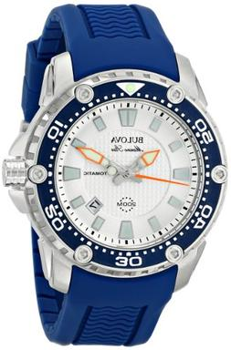 Bulova Men's 98B208 Stainless Steel Automatic Watch With Blu