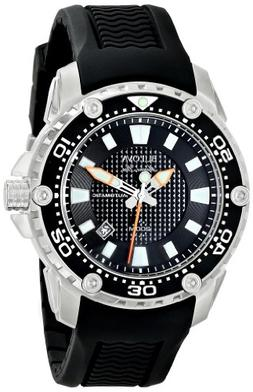 Bulova Men's 98B209 Stainless Steel Automatic Watch with Bla