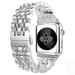 For Apple Watch Band , HP95 Solid Stainless Steel Metal Watc