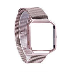 Wearlizer Compatible Fitbit Blaze Band Small Pink Rose Gold,