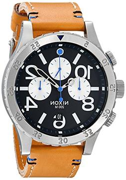 Nixon Men's A3631602 48-20 Chrono Leather Watch