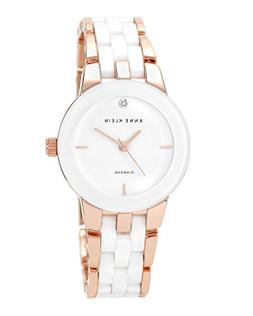 Anne Klein Women's AK/1610WTRG Diamond Dial Rose Gold-Tone a