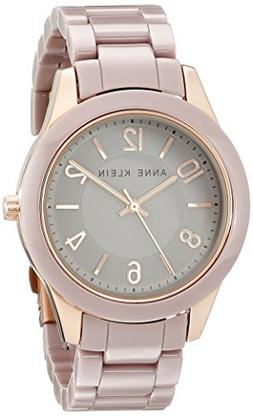 Anne Klein Women's AK/1962RGTP Rose Gold-Tone Watch with Cer