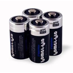 Dakota Alert CR123A 3V Lithium Batteries, 4Pack