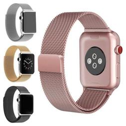 For Apple iWatch Series 3 2 1 Magnetic Milanese Loop Band Wa