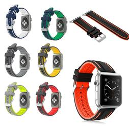 For Apple iWatch Series 6 SE 5 4 3 2 1 Replacement Silicone
