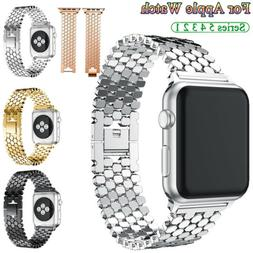 For Apple Watch 2 3 4 5 Stainless Steel Armband Wrist Strap