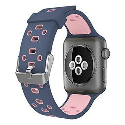 Simpeak Apple Watch Band 38mm, Soft Silicone Replacement Wri