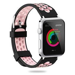 For Apple Watch Band 38mm 42mm,YiJYi Soft Silicone Sport Str