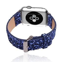 Apple Watch Band,Mydeal Extreme Deluxe 3D Bling Leather Brac