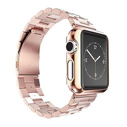 Apple Watch Band, Creazy® Stainless Steel Strap Watch Band+