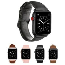 Apple Watch Band Mumba Genuine Leather Strap Replacement Ban