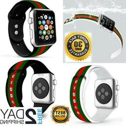 Apple Watch Band Gucci Black Iwatch Silicone 42mm 44mm Serie