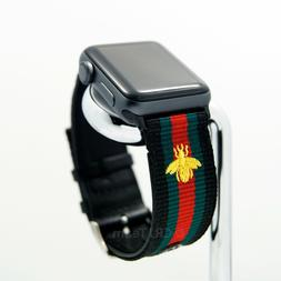 For Apple Watch Band Gucci Pattern Stripe Sport Replacement