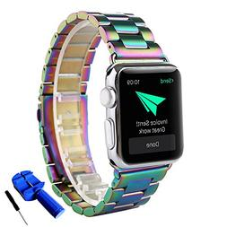 Apple Watch Band, Huanlong Latest Solid Stainless Steel Meta