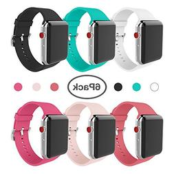 for Apple Watch Band 38mm Soft Silicone Replacement Band for