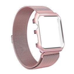 ALNBO 38mm Apple Watch Band Stainless Steel Mesh Magnetic Re