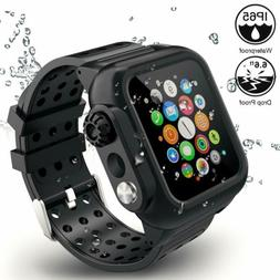For Apple Watch Band with Case 44mm Series 4, 3-in-1 Waterpr