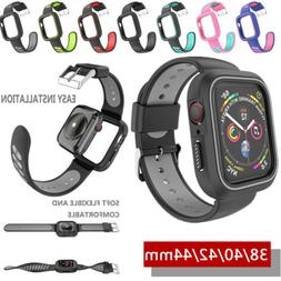 For Apple Watch iWatch Series 4 3 2 1 Silicone Sport Band St