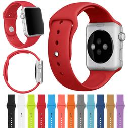 For Apple Watch Series 3/2/1 42/38mm Replacement Silicone Sp
