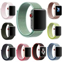 For Apple Watch Series 5 4 3 2  38/40 42/44mm Woven Nylon Lo