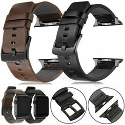 Genuine Leather Band Strap For Apple Watch SE Series 6 5 4 3