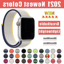 For Apple Watch Series 5/4/3/2 Nylon Sport Loop iWatch Band