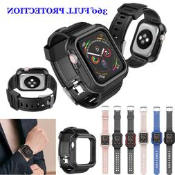 For Apple Watch Series SE/6/5/4/3/2/1 Rugged Case + Strap Ba