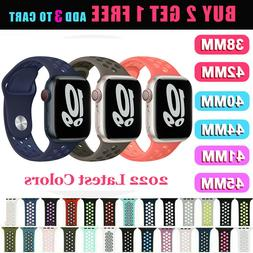 For Apple Watch Sport Band Silicone iWatch Series 6 SE 5 4 3