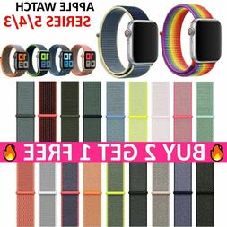 For Apple Watch Sports Loop Nylon Woven Band Series SE 6 5 4