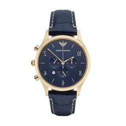 Emporio Armani Men's AR1862 Sport Blue Leather Watch