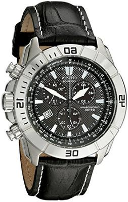 Citizen Men's AT0810-12E Eco-Drive Stainless Steel and Leath