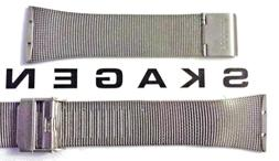 Authentic Skagen 25mm Mesh Watch Band. Attaches with screws