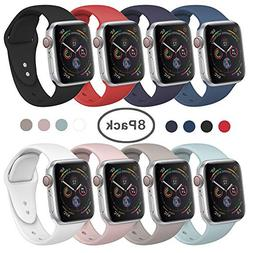 SIRUIBO Band Compatible for Apple Watch 38mm, Soft Silicone
