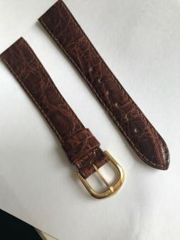 band-it Genuine Crocodile Brown Watch Band Made In France 18