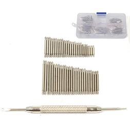 360 Pcs Watch Band Stainless Steel Spring Bars Link Pins 6-2