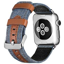 SKYLET Bands Compatible with Apple Watch, 38mm/42mm Canvas F