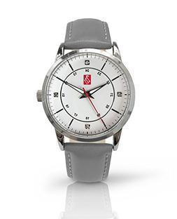 Prestige Medical Bel Air Premium Watch, Silver with Grey Ban