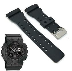 Black Resin Rubber Replacement Watch Band Strap Fits Casio G