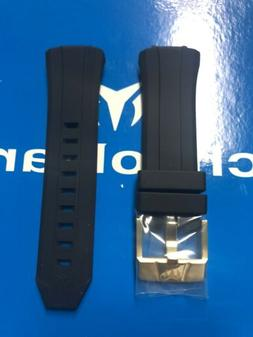 TechnoMarine Black Silicone Strap with Gold Buckle 45mm Orig
